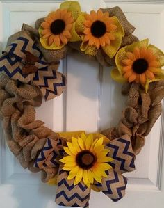 Hey, I found this really awesome Etsy listing at https://www.etsy.com/listing/232580177/chevron-sunflower-wreath