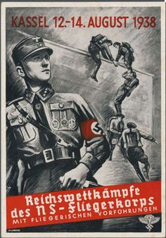 : Picture postcards and topics Third Reich Propaganda, Organisations, NSFK Nazi Propaganda, Military Drawings, Ww2 Posters, German People, Political Beliefs, The Third Reich, World War Two, Portraits, Wwii