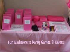 Fun bachelorette party games & favors!