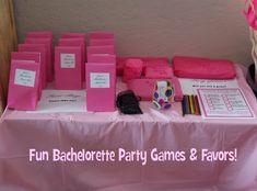Fun bachelorette party games & favors!
