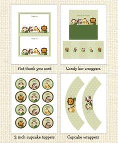 Safari Friends Jungle Animal Printable by LittlePrintsParties, $10.00