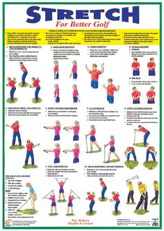 golf exercises and stretches | Warm-Up/Stretching Booklet For Golf