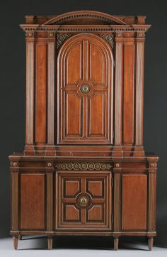 CONTINENTAL BRONZE MOUNTED MAHOGANY CABINET Northern Germany, 18th Century and later