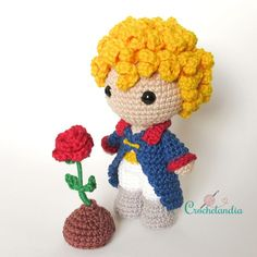 Best 12 Toy Art Amigurumi O Pequeno Príncipe – by Crochelandia Crochet Doll Pattern, Crochet Dolls, Crochet Patterns, Crochet Disney, Amigurumi Patterns, Amigurumi Doll, Cute Crochet, Easy Crochet, Toy Art