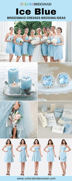 Ice blue bridesmaid dresses short and long, affordable 69-99, 500+ custom-made styles, all sizes and color samples, fast arrived! #colsbm #bridesmaids #weddings #weddingideas #icebluewedding b654