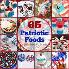 Red, White, and Blue! Patriotic Food Perfect for a of July, Memorial Day, or Veteran's Day get together! Easy and delicious patriotic food recipes. Patriotic Party, 4th Of July Party, Fourth Of July, Memorial Day Foods, Strawberry Cheesecake Bites, Diy Mother's Day Crafts, Blue Food Coloring, Mothers Day Crafts For Kids, How To Eat Better
