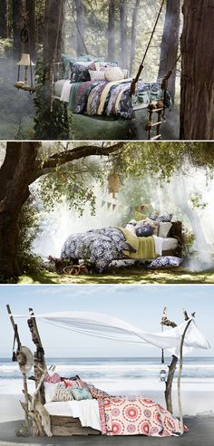 no need for a tree house when you've got a tree bed.
