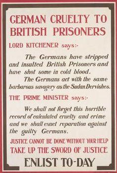 Title:German Cruelty to British Prisoners PRC Date6.1915