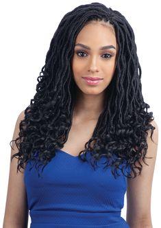 FreeTress Synthetic Hair Crochet Braids Goddess Loc – SamsBeauty - Home Black Hairstyles Crochet, African Braids Hairstyles, Black Girls Hairstyles, Straight Hairstyles, Braided Hairstyles, Protective Hairstyles, Crochet Hair Styles, Crochet Braids, Goddess Locks