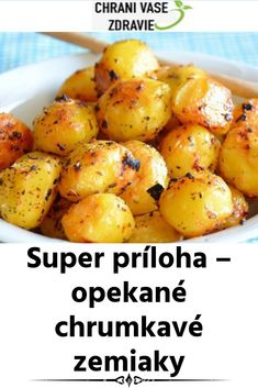 Super príloha – opekané chrumkavé zemiaky Baked Potato, Catering, Nova, Food And Drink, Potatoes, Baking, Vegetables, Ethnic Recipes, Gastronomia