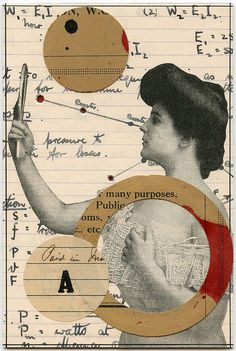 Reflexion, 2011.  Collage by Angelica Paez