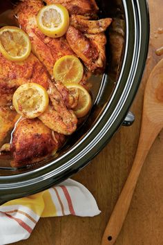 Slow-Cooked Barbecued Chicken - Back-to-School Slow-Cooker Recipes - Southernliving. Recipe: Slow-Cooked Barbecued Chicken  Skip the pre-cooked chicken at the grocery store, and make your own with this easy recipe.