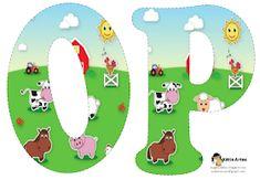 Alfabeto de la Granja. | Oh my Alfabetos! Alfabeto Animal, Farm Animal Birthday, Farm Birthday, Sheep Pig, Farm Unit, Alice In Wonderland Party, Animal Alphabet, Farm Party, Farm Theme