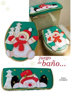 Moldes o patrones para elaborar hermosos muñecos navideños ALBUM 219 WhatSapp +584124278063 Christmas In July, Christmas Snowman, Christmas Stockings, Christmas Crafts, Xmas, Christmas Ornaments, Felt Christmas Decorations, Christmas Fabric, Christmas Bathroom Sets