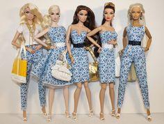Vanessa, Edén, Verónica, Imogen y Linda ( Barbie Versace ) con colección Flower Blue 2015 by Lewis | by Lewis021124