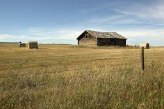 Farm cabin outside Glacier National Park, Montana