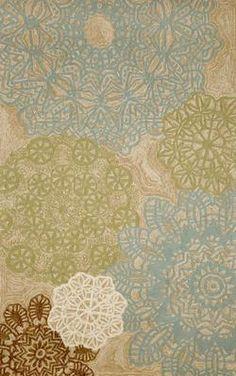 Trans Ocean Ravella Crochet Rug