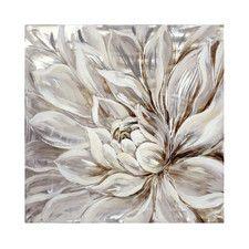 Snowy Bloom Painting Print