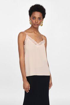 Imagen 4 de TOP LENCERO de Zara Zara, Camisole Top, Lingerie, Tank Tops, Clothes, Style, Outfit, Fashion, Swag