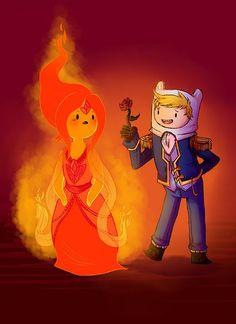 finn y la princesa flama - Buscar con Google