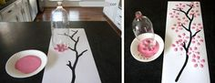 Spring time CAN DO THIS WITH DRAWING OR PAINTING THE TREE LIMBS AND GLUEING ON LITTLE BITS OF TISSUE PAPER AS THE BLOSSOMS