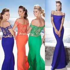 2015 New Design Tarik Ediz Dress Boat Neck Off Shoulder Mermaid Gowns Lace Top Long Evening Dresses Formal Gown