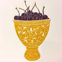 Cherries in Yellow Bowl