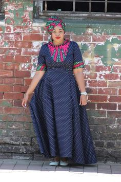 Shweshwe dresses 2020 is extremely well respected mostly in Africa. let us show shweshwe dresses for South African women to copy in her coming parties. African Print Dresses, African Print Fashion, African Fashion Dresses, African Prints, African Attire, African Wear, African Women, African Traditional Dresses, Traditional Outfits