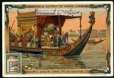 Egypt Royal Barge on The Nile River 1903 Card | eBay