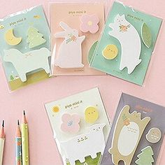 Cute-Kawaii-Animal-Novelty-Cat-Rabbit-Sticky-Note-Memo-Pad-Label-Post-It-Gift
