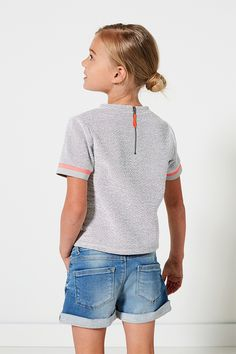 Morning Glow | Lookbook | Fall collection | Girls | Shirt | Grey | Pink