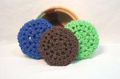 Pot Scrubber durable scour pads nylon net home by JazzysCrochet