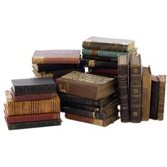 Antique Leather Books (€155) ❤ liked on Polyvore featuring books, fillers, backgrounds, harry potter, decor, saying, quotes, phrase, magazine and text