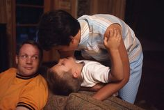 Neil Armstrong with his wife Jan and son Mark, then 10, in their home in Houston, Texas a few months before the mission began. Photograph: Ralph Morse/Time & Life Pictures/Getty Image