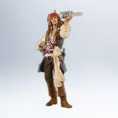 Pirates of Caribbean Christmas Ornament Hallmark Captain Jack Sparrow