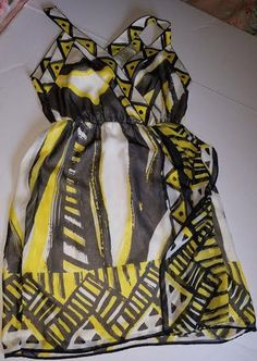 Nordstrom Dress ICE black and yellow size 8