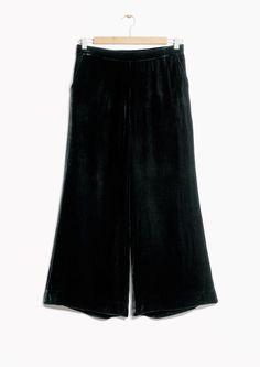 & Other Stories image 2 of Zana Bayne Velvet Culottes in Black