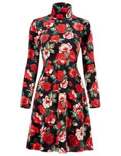 Vintage Autumn dresses Plus Size clothing winter Print vestidos femininos casual Office dress Long sleeve Women Floral dress * Want to know more, click on the image.