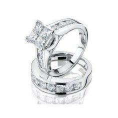 Princess Cut Diamond Engagement Rings Set 45