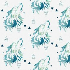 Howl At The Moon fabric by x0xperlax0x on Spoonflower - custom fabric