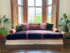 The brief was a sexy opulent day bed. And we delivered! All @lamaisonpierrefrey fabrics and trims . . . . . #pierrefrey #hermesfabrics… Alcove Seating, Pierre Frey, Daybed, Fabrics, Lounge, Couch, Sexy, Furniture, Home Decor