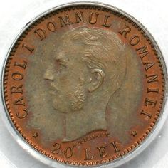 20 lei 1906 - copper essay Coins, Copper, Personalized Items, Brass