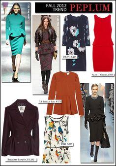 The Fall 2012 Trend Files | Peplum