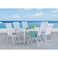 Outdoor Velago Catania Aluminum Rectangular 7 Piece Patio Dining Set - 34459