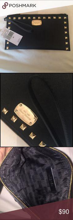 Michael Kors Studded Zip Clutch Brand New! Michael Kors Other