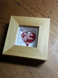 'Time After Time' - Miniature Original Papercut This little papercut is cut from a single sheet of cream textured paper, magically floating over a sparkly red heart mount casting pretty shadows.