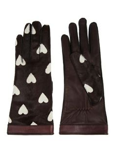 Burberry heart print gloves