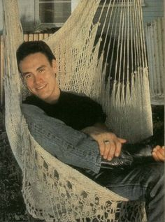 Brandon Lee in a hammock -- cozy!