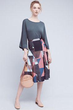 Cubist Knit Midi Skirt