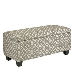 HomePop Large Decorative Storage Ottoman   Overstock.com Shopping - The Best Deals on Ottomans